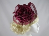 J.Bees Millinery Burgundy Headpiece